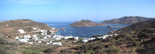grikos bay patmos island greece